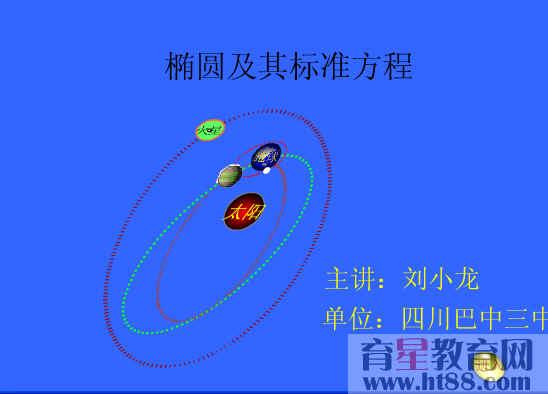 椭圆及其标准方程flash课件