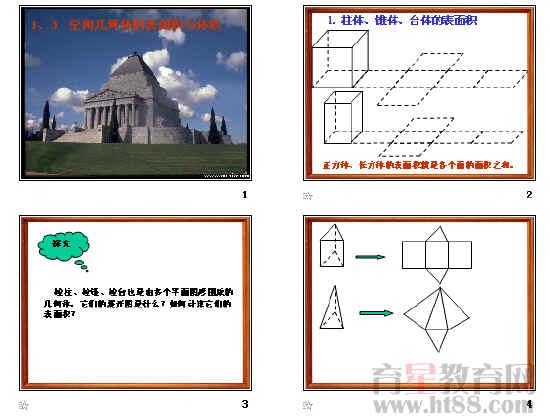 立体几何ppt(空间几何体的表面积和体积等36个)