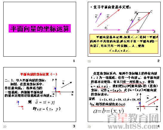 平面向量的坐标运算ppt4