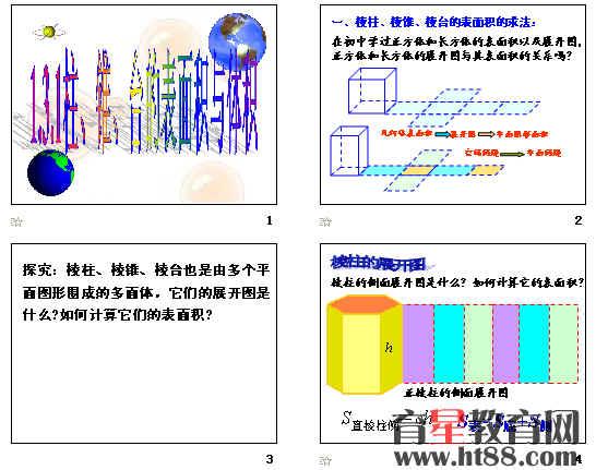 空间几何体的结构   1.3.1柱、锥、台的表面积与体积.ppt   1.3.2球的表面积与体积.ppt   1[1].1空间几何体的结构(1)(上课用).ppt   1[1].2.1空间几何体的三视图.ppt   1[1].2.2空间几何体的直观图.ppt   截一个几何体的各种截面.exe   旋转梯形.gsp   柱、锥、台、球的结构特征.