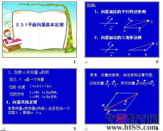 平面向量基本定理ppt5