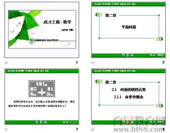 平面向量 ppt 精讲课件强化练习向量的概念等24份,人教b版 .