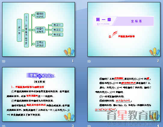 《坐标系》ppt2(打包6套)